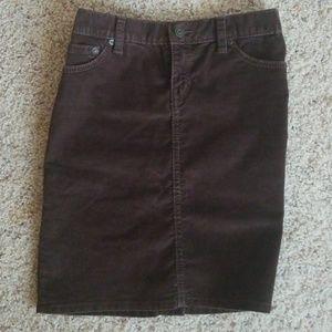 Brown Corduroy Skirt by Gap